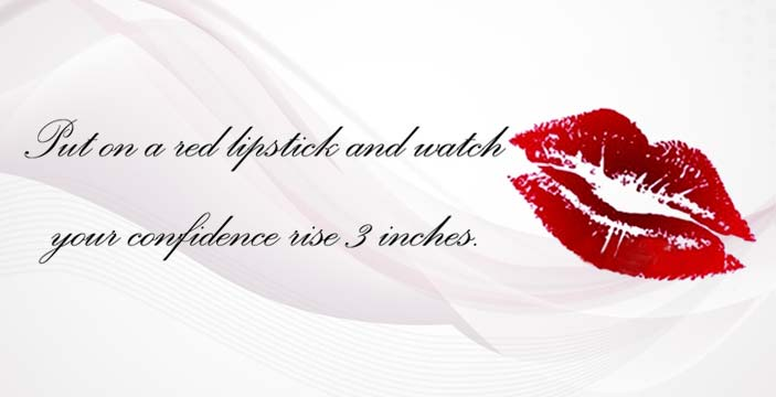 Lipstick Quotes Classy The Power Of Red Lipstick