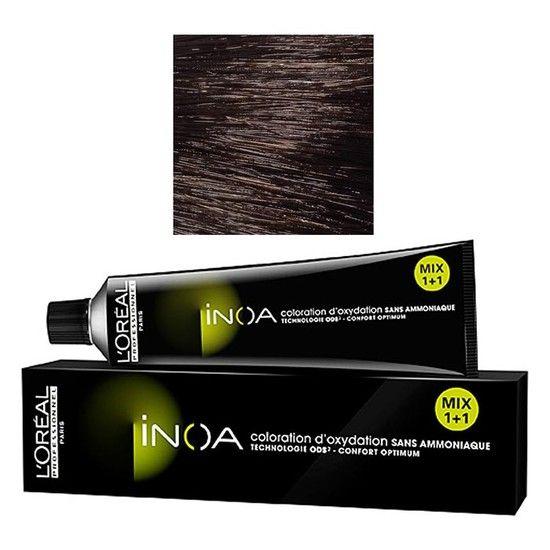 loreal professionnel inoa 4 brown 60 g ammonia free permanent color - Coloration 60