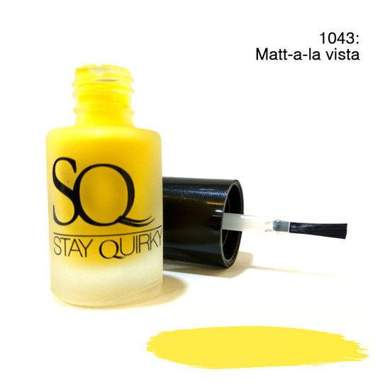 Stay Quirky Nail Polish Matte Yellow Matt–a–la Vista 1043 (6 Ml)