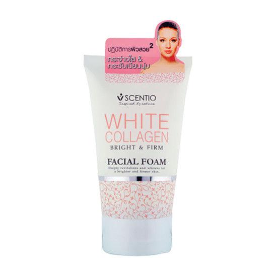 Scentio White Collagen Bright & Firm Facial Foam (Made In Thailand)
