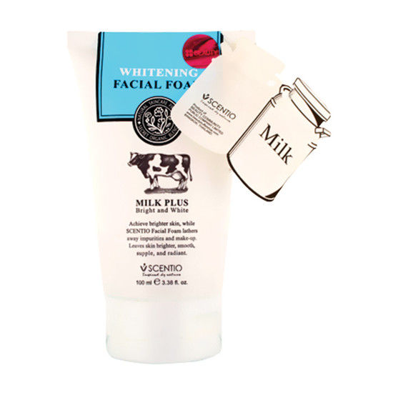 Scentio Whitening Milk Plus Bright & White Facial Foam (Made In Thailand)